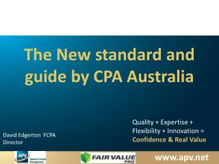 The New standard and guide by CPA  Australia