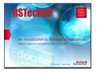 An Introduction to VMware Virtualization Reduce IT expenses while boosting efficiency and agility