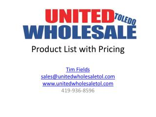 Product List with Pricing