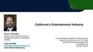California Economic Overview