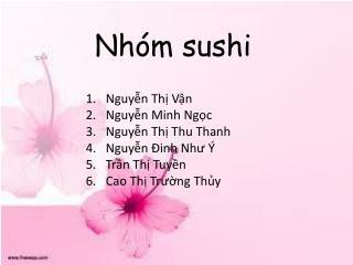 Nhóm sushi