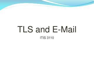 TLS and E-Mail