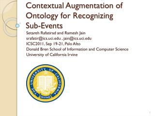 Contextual Augmentation of Ontology for Recognizing  Sub-Events