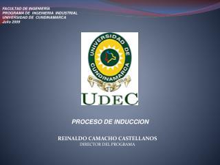FACULTAD DE INGENIERÍA PROGRAMA DE  INGENIERIA  INDUSTRIAL UNIVERSIDAD DE  CUNDINAMARCA