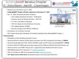 Building SMART  Benelux  Chapter IC - Status Report – Sept.09  -  Copenhagen