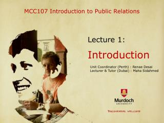 MCC107 Introduction to Public Relations
