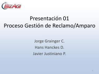 Presentaci�n 01 Proceso Gesti�n de Reclamo/Amparo
