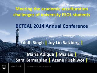 Meeting the academic acculturation challenges of university ESOL students