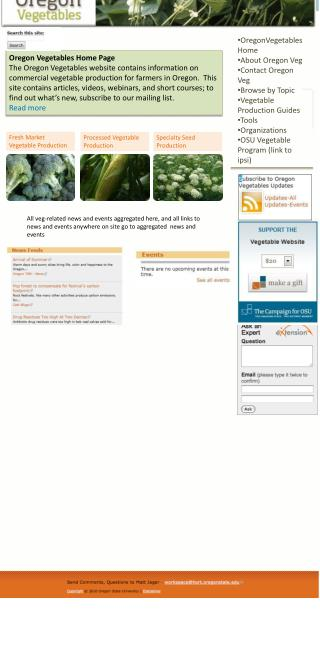 Oregon Vegetables Home Page