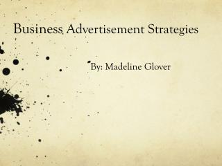 Business  Advertisement Strategies