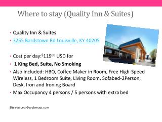 Where  to  stay ( Quality Inn &  Suites)