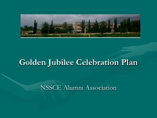 Golden Jubilee Celebration Plan