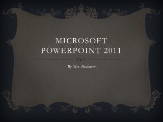 Microsoft  Powerpoint  2011
