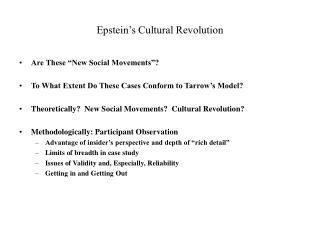 Epstein s Cultural Revolution