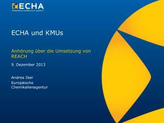 ECHA und KMUs