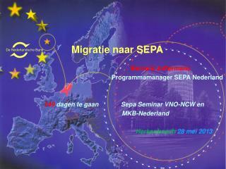Migratie naar SEPA               Bernard  Juffermans Programmamanager  SEPA Nederland