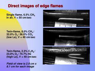 Direct images of edge flames