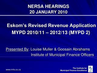 NERSA HEARINGS 20  JANUARY 2010