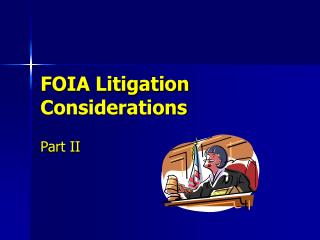 FOIA Litigation Considerations