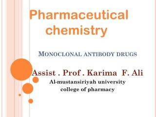 Monoclonal antibodies     Anticancer therapy