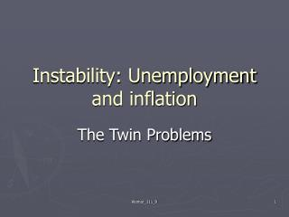 Instability: Unemployment and inflation