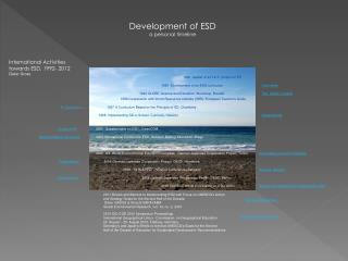 Development of ESD a personal timeline