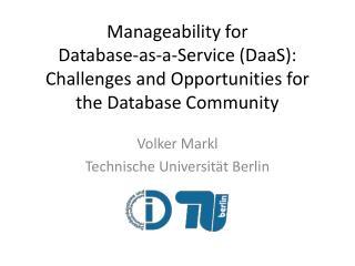Volker Markl Technische Universität Berlin