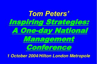 Slides at � tompeters