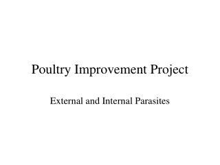Poultry Improvement Project