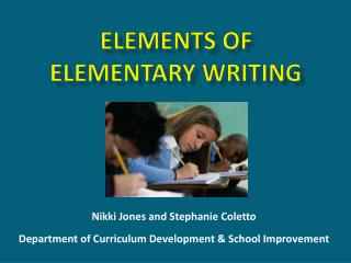 Elements of  Elementary Writing