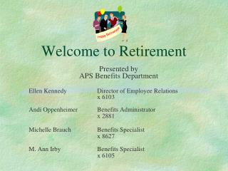 Welcome to Retirement