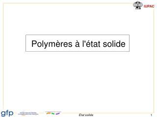 Polym�res � l'�tat solide