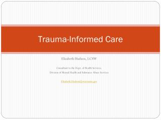 Trauma-Informed Care