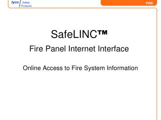 Online Access to Fire System Information