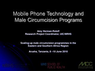 Mobile Phone Technology and Male Circumcision Programs