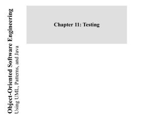 Chapter 11: Testing