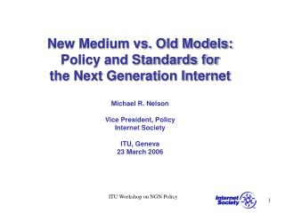 Internet Society's Public Policy Goals