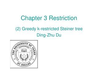 Chapter 3 Restriction