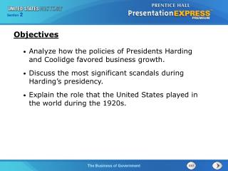 Analyze how the policies of Presidents Harding and Coolidge favored business growth.