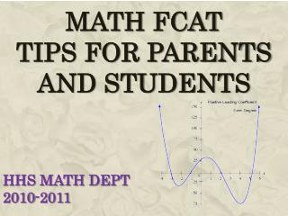 MATH FCAT TIPS FOR PARENTS  AND STUDENTS