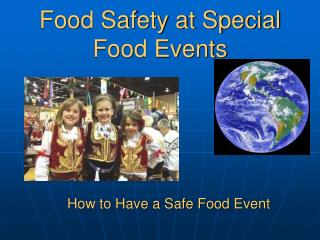 Food Safety at Special Food Events