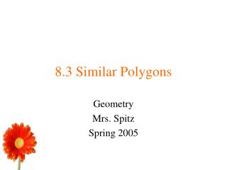 8.3 Similar Polygons