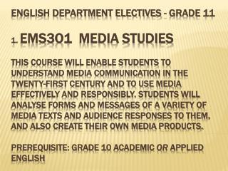 2.  EMS301 Presentation and Speaking Skills