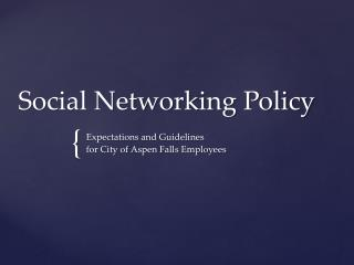 Social Networking Policy