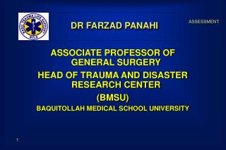 DR FARZAD PANAHI