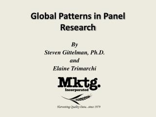 Global Patterns in Panel Research