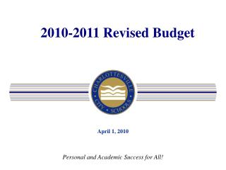 2010-2011 Revised Budget