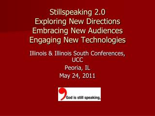Stillspeaking 2.0 Exploring New Directions Embracing New Audiences  Engaging New Technologies