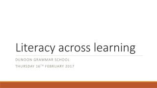 Literacy Across Learning
