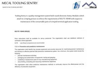MECAL TOOLING SENTRY
